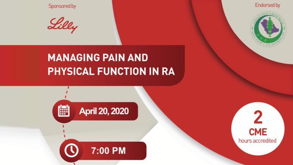 managing pain and physical function in RA